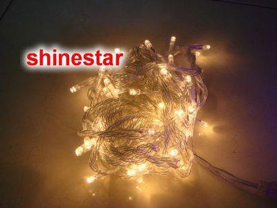 暖白 最溫馨~可串~LED聖誕燈!1000cm 100高亮度led裝飾聖誕樹燈,防水~贈8段跳機 led燈飾