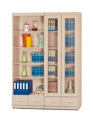 【南洋風休閒傢俱】書架 書櫃 書櫥 展示櫃 收納櫃 造形櫃 置物櫃系列-白橡2尺下抽書櫥CY411-7639