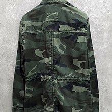 Maple麋鹿小舖 Abercrombie&Fitch * AF 軍綠色迷彩腰身設計外套 *( 現貨M號 )