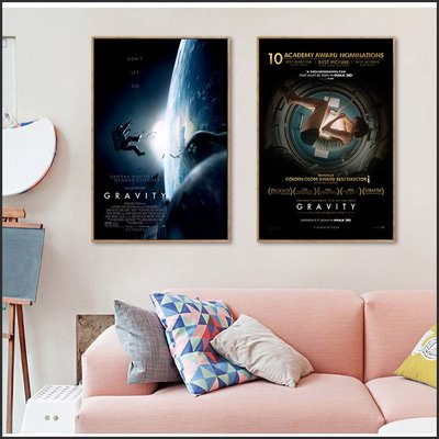 日本製畫布 電影海報 地心引力 Gravity 掛畫 無框畫 @Movie PoP 賣場多款海報#