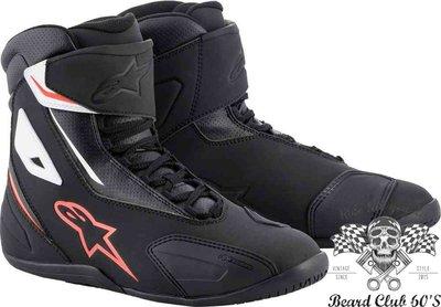 ♛大鬍子俱樂部♛ Alpinestars® Fastback 2 美式 復古 休閒 短筒 防摔 車靴 賽車靴 黑/紅/白