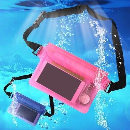 ✨三層密封防水腰包 游泳 漂流 沙灘防水腰包 PVC防水 肩背包