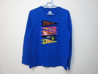 bossini 藍色 長袖 圓T/L