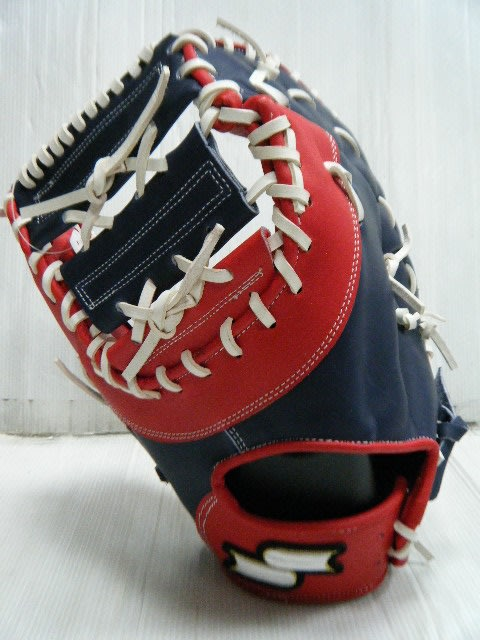 新莊新太陽 SSK SSK7040 店家訂製 限定款 限量 A級 硬式 牛皮 棒壘手套 一壘手 深藍紅 左投 特4500