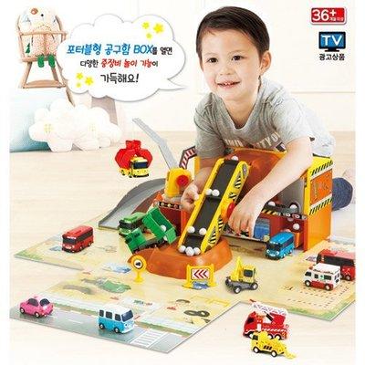 TAYO工地現場遊戲組~ 韓國卡通TAYO小巴士~場景組~◎童心玩具3館◎