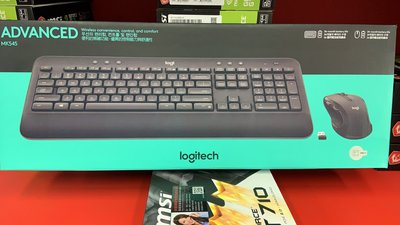 『高雄程傑電腦』Logitech 羅技 MK545 無線滑鼠鍵盤組 非MK270 MK345 【實體店家】