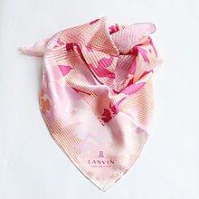 (QQ) 購自日本 日版 Lanvin 花花 頸巾 方巾 scarf 毛巾 手巾 (日本製)