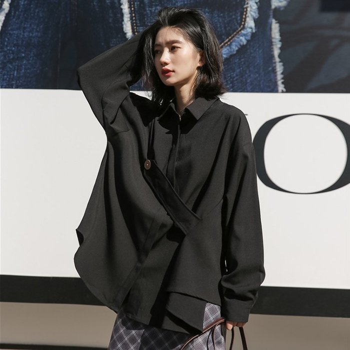 SeyeS  NYLON古著時髦釦帶設計感寬鬆襯衫