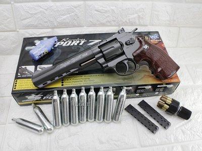 [01] WG 6吋 左輪 手槍 CO2直壓槍 + 12g CO2小鋼瓶 ( 左輪槍6吋SP 702直壓槍BB槍BB彈