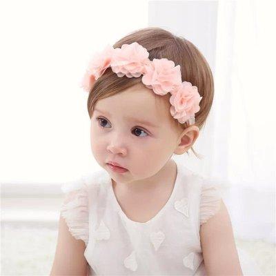 嬰兒髮帶 寶寶頭飾 女童頭飾 兒童髮飾 髮帶珠子 花朵髮帶