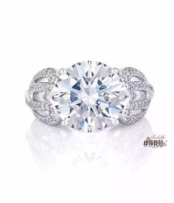 3克拉 劉詩詩訂婚鑽戒款式-豪華群鑲鑽戒(莫桑石 摩星鑽 鑽石 裸石) GIA驗證 鑽石品質