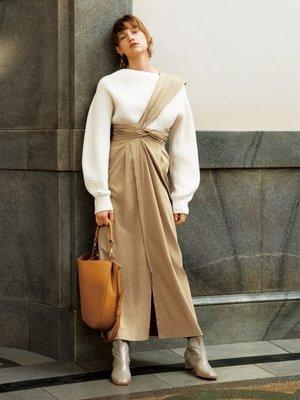 [全新|免運]日本正品 FRAY I.D 紐結單肩吊帶裙