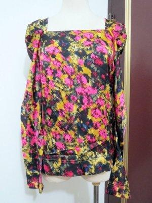 iROO #38 長袖彩色暈染風緞面滑布