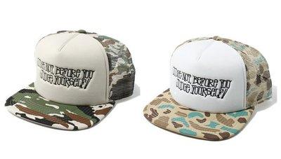 【 超搶手 】全新正品 2013 S/S 春季 最新款 STUSSY SAYING TRUCKER BALLCAP 迷彩 網帽 棒球帽 兩色