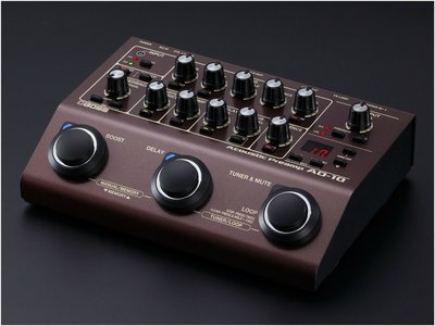 ♪♪學友樂器音響♪♪ BOSS AD-10 木吉他效果器 前級 DI-Box 綜合效果器