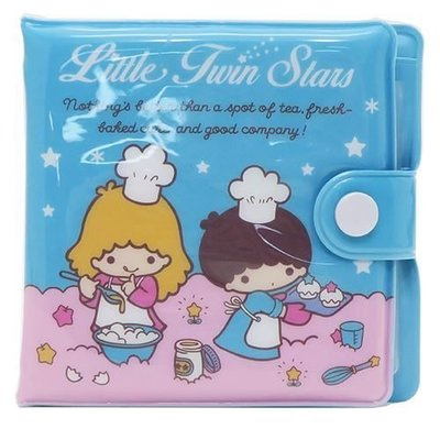 Sanrio 日本正版 Little Twin Stars 雙子星 兒童 膠銀包 錢包