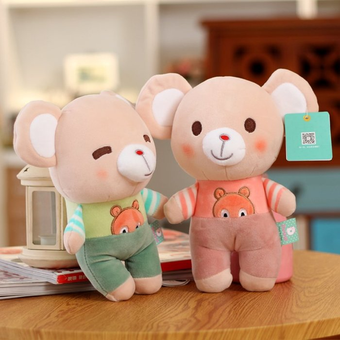 888利是鋪-可愛鼠公仔老鼠毛絨玩具抓機婚慶布娃娃小玩偶女孩兒童生日禮物#玩偶