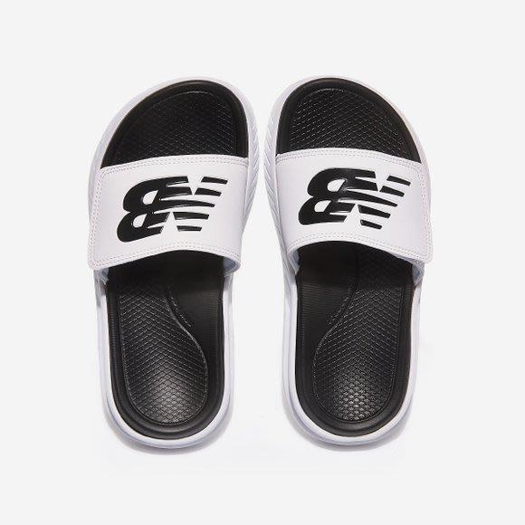 【Luxury】New Balance 厚底拖鞋 防水 魔鬼氈 男女鞋 情侶鞋 黑白 奶茶色 SD1501G 韓國代購