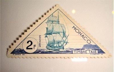 早期摩納哥郵票 TIMBRE TAXE 2F