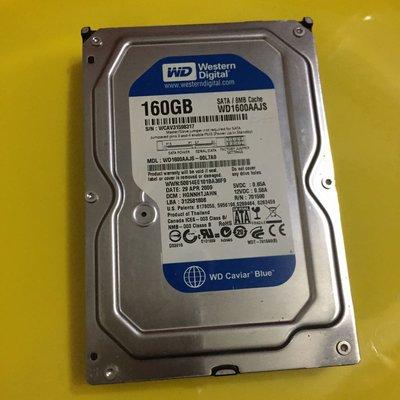 二手品 WD 藍標 160GB 8 MB cache桌機用硬碟3.5吋台北可面交