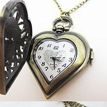 日本正版 MONOZY 復古 鏤空 項鍊 愛心 懷錶 MNZ-63591 附專屬收納袋 日本代購