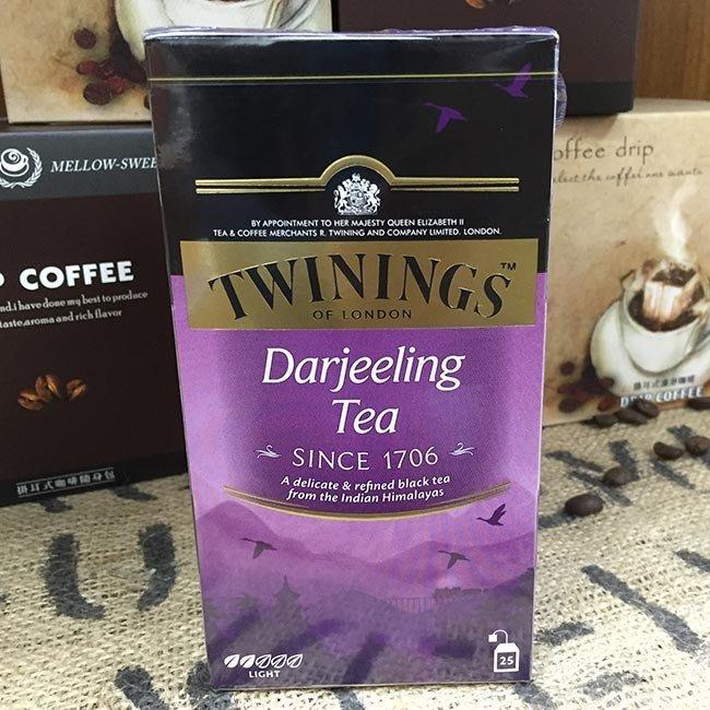 歐式大吉嶺 英國皇室御用茶TWININGS TEA 唐寧-  2g*25入/盒-【良鎂咖啡精品館】