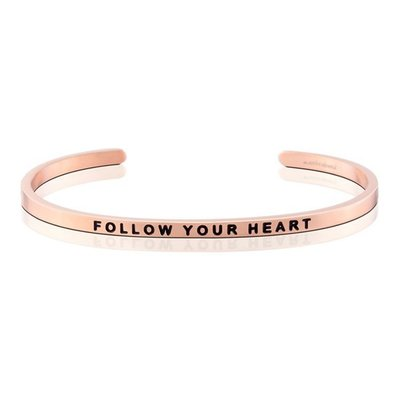 MANTRABAND 美國悄悄話手環 Follow Your Heart 隨心所欲 玫瑰金手環