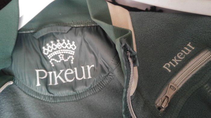 騎馬必備 德國品牌PIKEUR 灰綠色禦寒刷毛外套