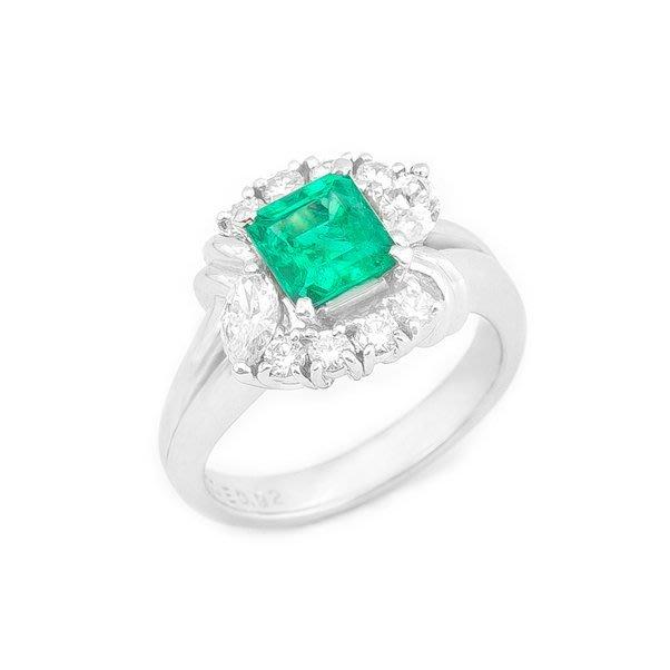 【JHT金宏總珠寶/GIA鑽石專賣】0.92ct天然祖母綠鑽戒/材質:PT900(JB19-D01)