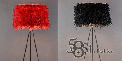 【58街】義大利設計師款式「羽毛燈罩落...