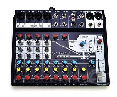 【音響世界】英國Soundcraft 新款Notepad系列12軌帶FX精巧型USB混音器》贈3米MIC線