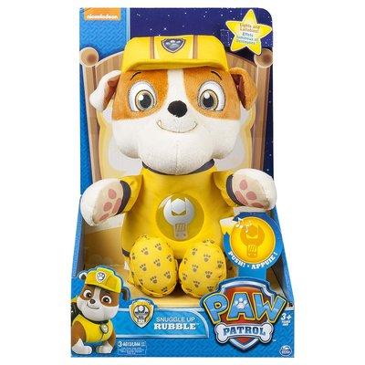 預購 美國帶回 正版 Paw Patrol 汪汪隊 Rubble 小礫 寶寶安撫玩偶 音響玩具 娃娃 音樂娃娃