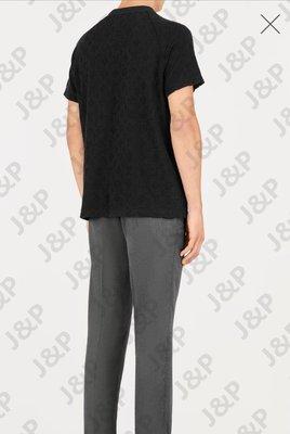 LV 19SS Monogram Toweling 提花背景花紋 T恤 情侶款 黑色