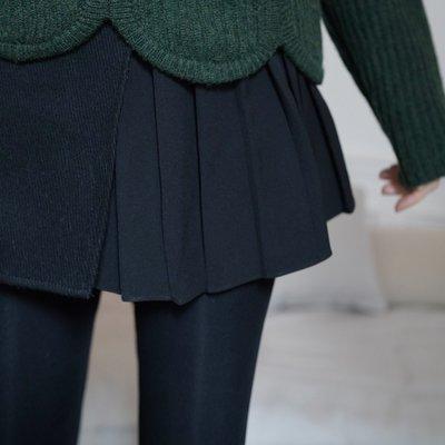 《巴黎拜金女》性感黑色褶皺半裙女裙褲百褶半身裙