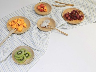 日式原木餐具【Y1012】雲衫水果盤 ...