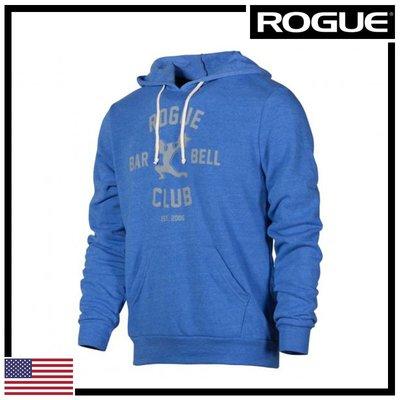 ►瘋狂金剛◄ 藍/灰 ROGUE BARBELL CLUB 2.0 HOODIE 槓鈴俱樂部2.0 帽T