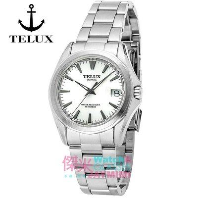 【JAYMIMI傑米】TELUX鐵力士 都會時尚極簡刻度日期不鏽鋼手腕錶 台灣在地老品牌  #瑞士機芯