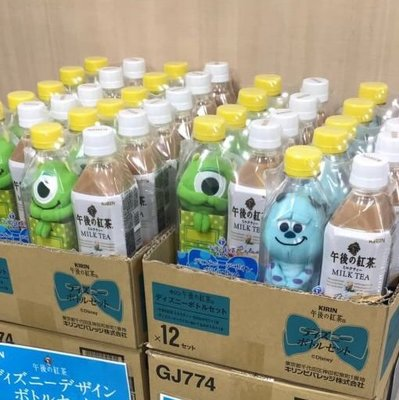 現貨 2019 午後紅茶 迪士尼 怪獸電力公司 毛怪.大眼仔不拆賣 (不含飲料) 日本空運~小太陽日本精品