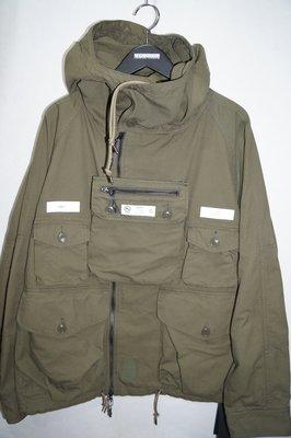「NSS』NEIGHBORHOOD 19 TACTICAL SMOCK CN JKT 多口袋 綠 M 外套