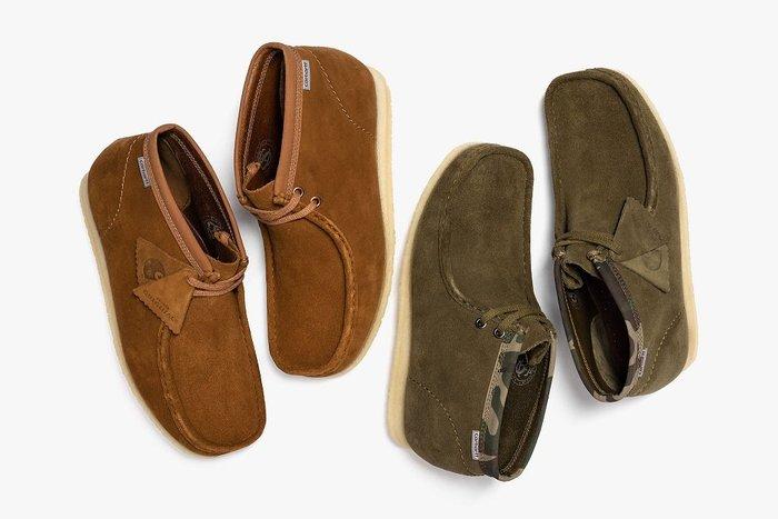 { POISON } CLARKS x CARHARTT WIP WALLABEE BOOT 經典袋鼠鞋中筒靴