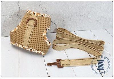 ✿小布物曲✿ 手作寵物牽繩胸帶組 (中) 100%純棉進口布料質感優 透氣舒適 好清洗