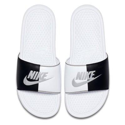 【Footwear Corner 鞋角 】Nike BENASSI JDI SLIDE 白底陰陽拼接拖鞋