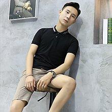 緣潮 夏季ins短袖T恤男士翻領修身Polo衫領子潮流刺繡個性體恤衫