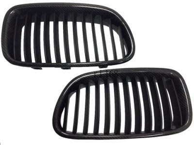 For F10 NEW M5 LOOK 2009 GRILLES 碳纖維 REAL CARBON FIBER 水箱罩