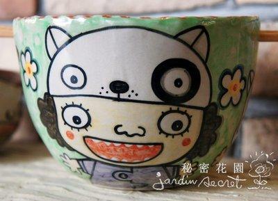 可樂貓手繪麵碗--秘密花園--泰國Ni...