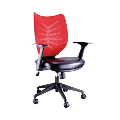 螞蟻雄兵 LV-922(NL)P 網布辦公椅(紅色款) 電腦椅 職員椅 會議椅 電競椅 旋轉扶手 透氣舒適 人體工學