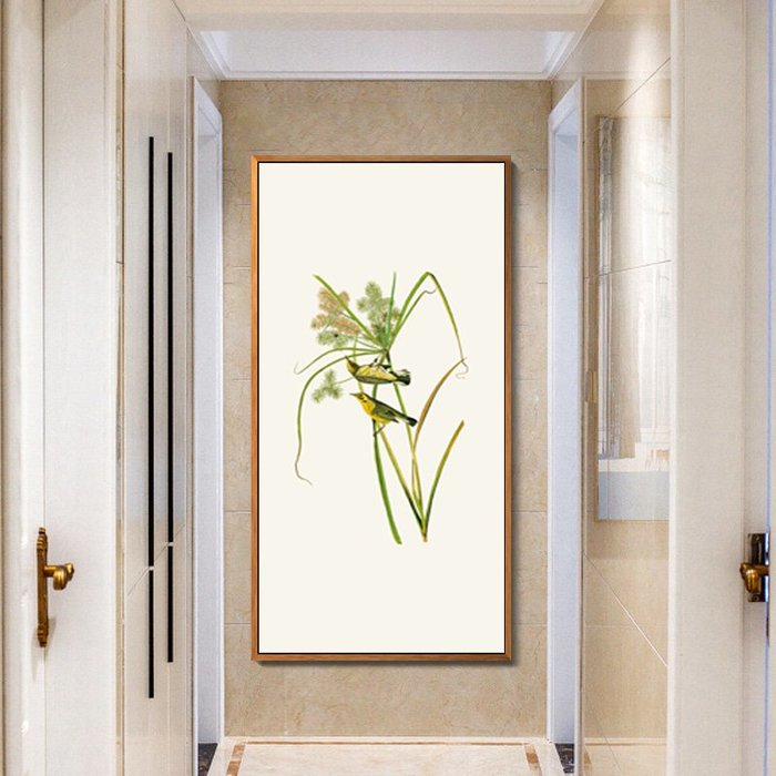 新中式畫心意境花鳥玄關客廳餐廳掛畫壁畫微噴打印裝飾畫(3款可選)