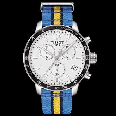 Tissot 天梭時捷系列NBA球隊款尼龍帶石英男腕錶丹佛掘金隊 T0954171703725
