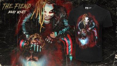 [美國瘋潮]正版WWE Bray Wyatt The Fiend Photo T-Shirt 詭異家族邪靈上身圖案衣服