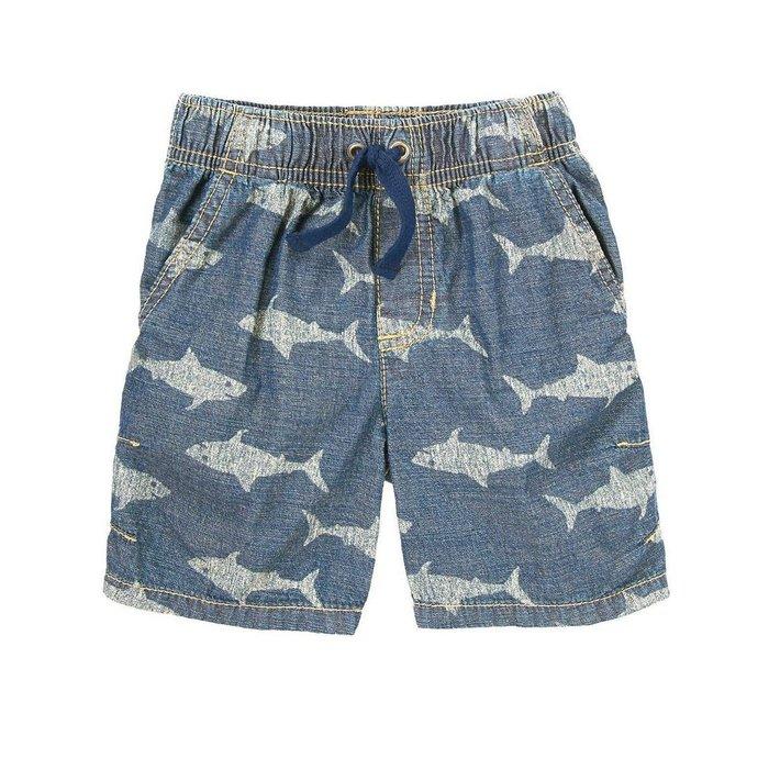 Maple麋鹿小舖 美國購買童裝品牌 GYMBOREE 男童牛仔色圖樣短褲 * ( 現貨18-24mos. )